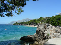 Adriatic coastline. At Brela, Croatia (most beautiful beach of Europe at 2004 (by Forbes stock images