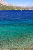 Adriatic - Duidelijke overzees Stock Afbeelding