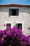 Adriatic eye. Tipical adriatic traditional house architecture stock photography