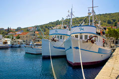 Adriatic fishermen village of Kali Stock Images