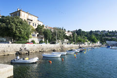 Adriatic fiskeport, scenisk sikt Fotografering för Bildbyråer