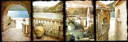 adriatic gammala towns Royaltyfri Fotografi