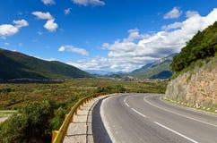 Adriatic highway. The Adriatic highway near Jaz Beach, Budva, Montenegro, Europe stock photography