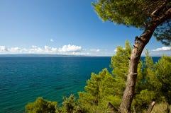 adriatic idyllisk liggandeseacoast Royaltyfri Fotografi