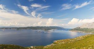 adriatic kustcroatia öar av Arkivbilder