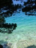 adriatic kustlinje Arkivbilder