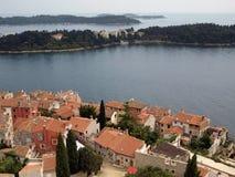 adriatic kustpanorama royaltyfria foton