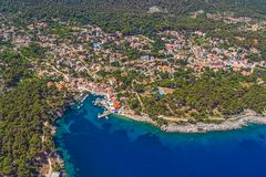 Adriatic landscape - Island Losinj Stock Photo