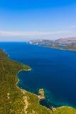 Adriatic landscape - Peljesac peninsula in Croatia. Channel Mali Ston between Peljesac peninsula and land in Croatia Royalty Free Stock Image
