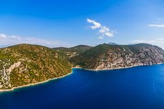 Adriatic landscape, Peljesac peninsula in Croatia Royalty Free Stock Photography
