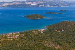 Adriatic landscape - Peljesac peninsula in Croatia Royalty Free Stock Image