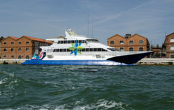 Adriatic Lines Catamaran Ferry, Venice Stock Photo