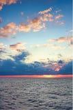 adriatic morza zmierzch Zdjęcie Stock