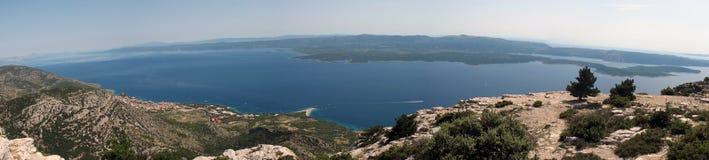 Adriatic panorama, Brac island, Croatia Stock Images