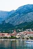 Adriatic port of Makarska,  Croatia Stock Photography