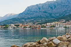 Adriatic port of Makarska,  Croatia Royalty Free Stock Images