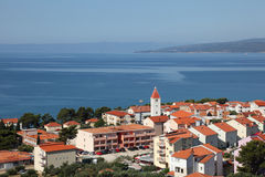 Adriatic resort town Promajna Royalty Free Stock Photography