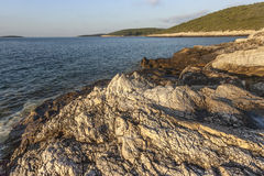 Adriatic rocky shore Royalty Free Stock Photography