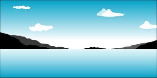 Adriatic Sea. Beautiful sea and mountain background Stock Photo