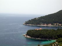 ADRIATIC SEA. Beatiful location on the Adriatic sea, Croatia, Europe stock photos