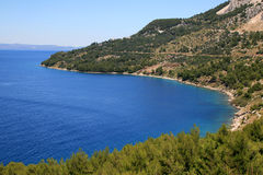 Adriatic sea bay. Beautiful scene at the sea and blue sky Stock Images