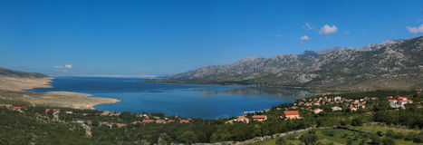 Adriatic sea bay in Dalmatia, Croatia Stock Images