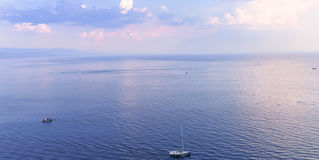 Adriatic sea. Blue sky with clouds over Adriatic Sea Croatia Royalty Free Stock Photography