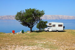 Adriatic Sea camping Stock Images