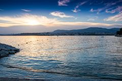 Adriatic sea coast of Croatia, Europe. Photo shot in Podstrana near Split Stock Image