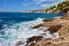 Adriatic Sea Coast Near Dubrovnik Stock Images