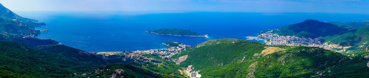 Adriatic Sea coast Panorama Royalty Free Stock Images
