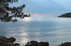 Adriatic sea coast at sunset Stock Photo