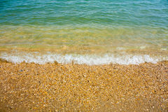 Adriatic Sea coast view. Seashore of Italy, sandy beach and wave, Summer background. Adriatic Sea coast view. Seashore of Italy, sandy beach and wave, Summer Royalty Free Stock Photography