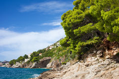 Adriatic Sea Coastline Royalty Free Stock Photography