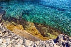 Adriatic Sea coastline in Croatia Royalty Free Stock Images