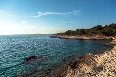 Adriatic Sea coastline in Croatia Stock Photography