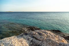 Adriatic Sea coastline in Croatia Stock Images