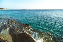 Adriatic Sea coastline in Croatia Royalty Free Stock Image