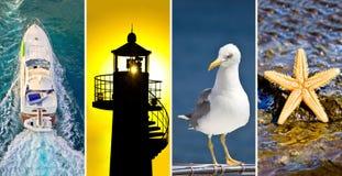 Adriatic sea collage Stock Photography