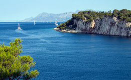 Adriatic sea in Croatia, Makarska town. Royalty Free Stock Photography