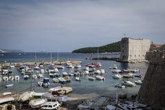 Adriatic sea of Dubrovnik, Croatia stock photo