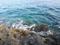 Adriatic sea at Hvar. Hvar's coast full of rocks Stock Photos