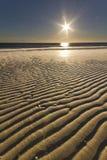 Adriatic sea. Italian seascape sunseton the beach Stock Photos