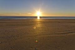 Adriatic sea. Italian seascape sunseton the beach Royalty Free Stock Photo