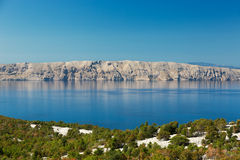 Adriatic Sea and Krk Island, Croatia Stock Photography
