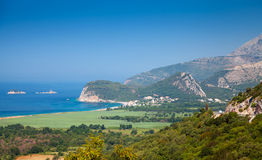 Adriatic Sea landscape. Buljarica, Montenegro Stock Photography