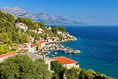 Adriatic sea - Makarska Riviera Dalmatia Croatia Royalty Free Stock Images