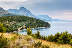 Adriatic Sea and Mountains near Dubrovnik Royalty Free Stock Image