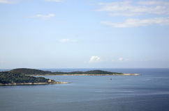 Adriatic Sea near Plat.  Dalmatia. Croatia Stock Photography