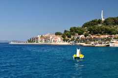 Adriatic sea at Podgora in Croatia Stock Images